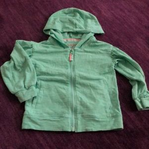 2T light weight hooded and zip long sleeve T